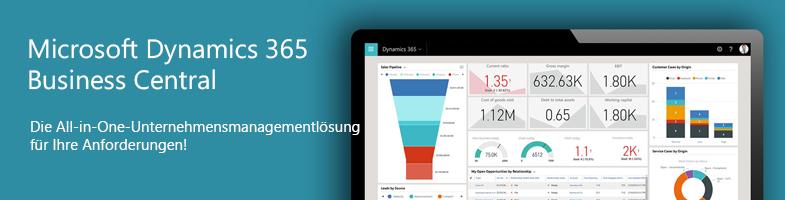Dynamics 365 Business Central, die All-in-One Unternehmensmanagement Lösung für Ihre Anforderungen